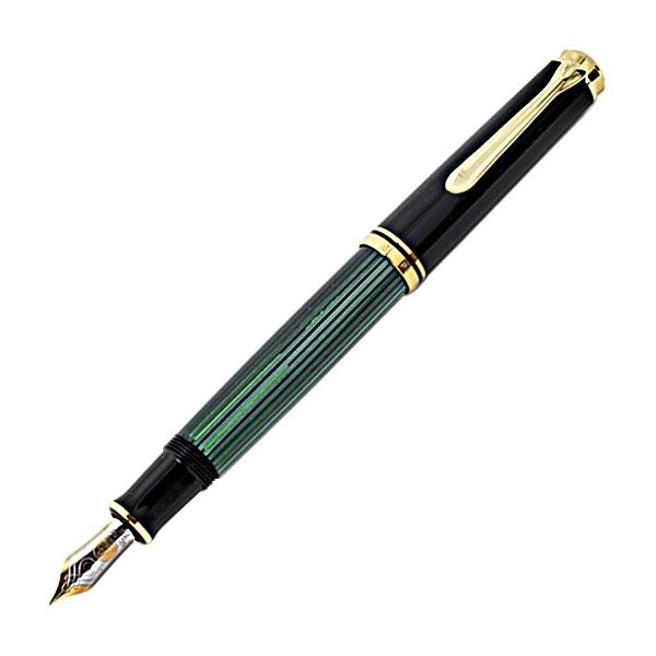 【即納可能】ペリカン(Pelikan)スーベレーン M600 グリーン縞 万年筆