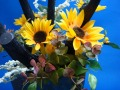 炭と花のコラボレイトインテリア