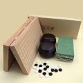 囲碁セット 新桂10号折碁盤と青ラベル竹とP銘木碁笥