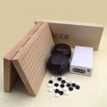 囲碁セット 新桂10号折碁盤に新生梅碁石とP銘木碁笥