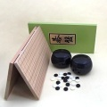 囲碁セット  新桂5号折碁盤と新生梅碁石とP碁笥黒大