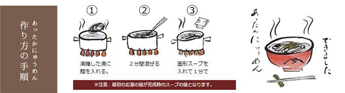 にゅうめんの調理方法
