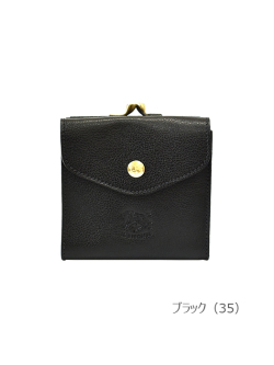 IL BISONTE イルビゾンテ【411277 折財布】ブラック
