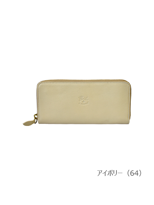 IL BISONTE イルビゾンテ【54182304440 長財布(Color Leather)】アイボリー