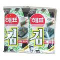 ミネラルと食物繊維たっぷりの韓国のり!韓国産の岩海苔100%、岩海苔特有の香ばしさ、パリっとした歯ざわり/1袋(8切×8枚×10個)