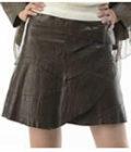 韓国ラムレザーラップスカート