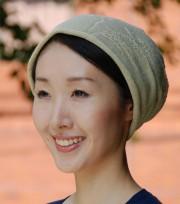 シルクニット帽子 絹100% ホールガーメント編み 【抗がん剤治療】【医療用帽子】【ケア帽子】