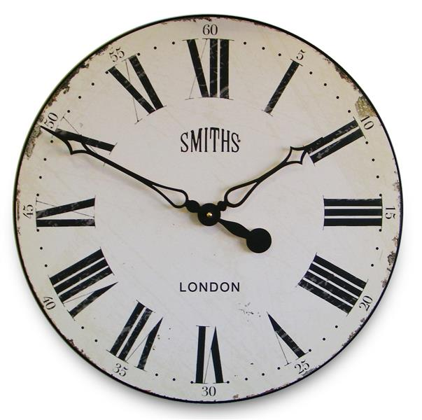 ロジャーラッセルRogerLascelles掛け時計Smiths Wall Clock Antique Style White   50cm掛け時計 GAL-SMITHS-WHITE