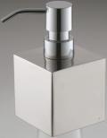 光沢が美しいシンプルなデザイン!ステンレス ソープディスペンサー キューブ Shiny