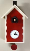 カッコーが鳴いて時刻を知らせます!鳩時計 カッコークロック イタリア・ピロンディーニCucuLac101Bianco