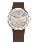noon copenhagen腕時計  ヌーンコペンハーゲンMens Flyinglog   112-002 ホワイト×イエローゴールド×ブラウン