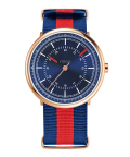 noon copenhagen腕時計  ヌーンコペンハーゲンMens Flyinglog   112-003 ブルー×ローズゴールド×レッド