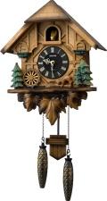 カッコークロック鳩時計 カッコーティンバー 4MJ423SR06 リズム時計 日本製 カッコーが鳴いて時刻を知らせます!