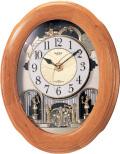 文字盤がメロディに合わせてダイナミックに変化!からくり時計スモールワールド ソルシアN  4MN422RA06 リズム時計