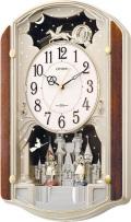 メロディに合わせて人形が回転!スモールワールド ウィッチ 4MN463RH23シチズン時計(リズム時計)
