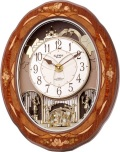 象嵌細工の高級感があふれています!からくり時計スモールワールド ディスプリーズF 4MN472RB06 リズム時計