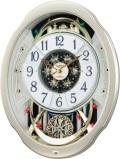 文字盤がメロディに合わせてダイナミックに変化!からくり時計スモールワールド ブルームF 4MN500RA18 リズム時計