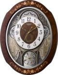 花象嵌細工の高級感があふれています!からくり時計スモールワールド ティアモ 4MN521RH06 リズム時計