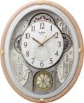 文字盤が360度回転します!からくり時計スモールワールド エアル 4MN525RH13 リズム時計