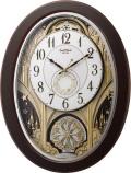 文字板が360度回転します!からくり時計スモールワールド ジューン 4MN526RH06 リズム時計