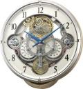 文字盤が360度回転します!からくり時計スモールワールド シーカー 4MN529RH13 リズム時計