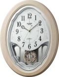 美しいメロディーで時を知らせる!アミュージング時計 電波時計 スモールワールドハミング 4MN530RH13  リズム時計