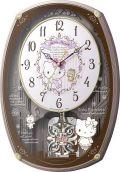 アミュージング振り子時計 からくり時計 ハローキティM540 4MN540MB13 リズム時計