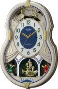 美しいメロディーで時を知らせる!アミュージング時計 電波時計 スモールワールドカラ—ズ 4MN543RH18  リズム時計