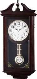 アンティーク調で美しい音色の報時付き!電波振り子時計 ルイスデールR 4MNA02RH06 (シチズン時計) リズム時計