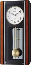 モダンな電波振り子時計!報時付き イルレガロF 4MNA04-006 シチズン時計 リズム時計
