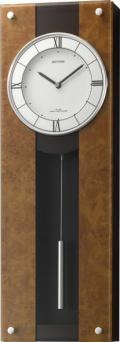 スタイリッシュデザイン!電波振り子時計 モダンライフM01 4MXA01RH06 リズム時計