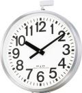 JIS防雨タイプ!屋外用大型電波掛け時計 エリア700N 4MY698-A19 リズム時計