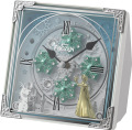 毎正時になると、パフォーマンスが始まります!からくり時計アナと雪の女王  4RH784MA03 リズム時計