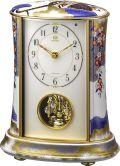 香蘭社・リズム時計共同開発品 回転飾り置き時計 ハイクオリティコレクション 御所車の図793 リズム時計 4RH793HG04 無料名入れ