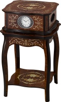 象嵌細工が美しい!置き時計&テーブル オルゴール ハイグレード RHG-R01 リズム時計 4RN430HG06 無料名入れ
