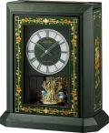 イタリア象嵌細工が美しい!振り子置き時計 オルゴール ハイグレード RHG-R07 リズム時計 4RN433HG05 無料名入れ