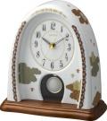 香蘭社・リズム時計共同開発品 振り子置き時計 ハイクオリティコレクション 雲散らし774 リズム時計 4RP774HG11 無料名入れ