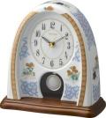 香蘭社・リズム時計共同開発品 振り子置き時計 ハイクオリティコレクション 染錦遊犬の図798 リズム時計 4RP798HG04 無料名入れ