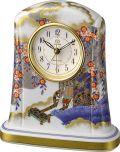香蘭社・リズム時計共同開発品 置き時計 ハイクオリティコレクション 御所車の図554 リズム時計 4SE554HG04 無料名入れ