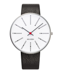 ����͡��䥳�֥����ӻ��� ARNE JACOBSEN Bankers Watch Leather  40mm��53102-2001
