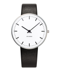 ����͡��䥳�֥����ӻ��� ARNE JACOBSEN City Hall Watch Leather  34mm��53201-1601