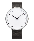 ����͡��䥳�֥����ӻ��� ARNE JACOBSEN City Hall Watch Leather  40mm��53202-2001