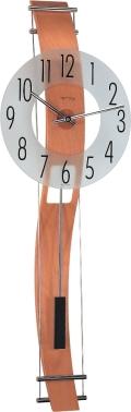 ガラスと木の調和が美しい ヘルムレ(HERMLE)製振り子時計 Kennington ビーチウッド  70644-382200