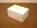 清潔感ある白い陶器が素敵!コットンボックス Sホワイトセラミック