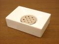 清潔感ある白い陶器が素敵!ソープディッシュ Sホワイトセラミック