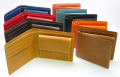 ポピュラーなデザインが人気! レザー財布 二つ折りタイプF3