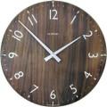 ドーム形状のガラスカバーと木目が美しい  INHOUSE(インハウス)掛け時計 ドームクロック W31WB ウォルナットΦ29cm