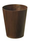 木目が綺麗なダストボックス(ゴミ箱) ウォルナットwood No903WN φ25.5×30