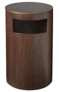 サイドテーブル&ダストボックス (テーブルゴミ箱) ウォルナット木目wood 990WN φ24×39