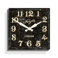 お洒落なスクエアデザイン! NEW GATEニューゲート掛け時計 BARBER'S Wall Clock ブラック BAR201AK